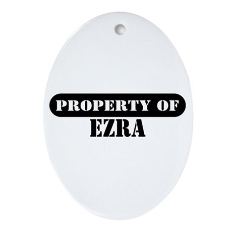 Property of Ezra Oval Ornament