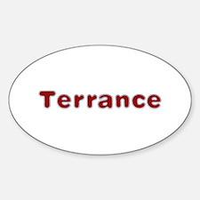 Terrance Santa Fur Oval Decal