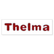 Thelma Santa Fur Bumper Bumper Sticker
