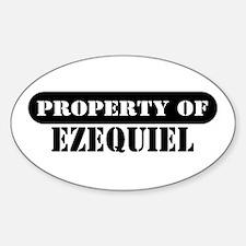 Property of Ezequiel Oval Decal