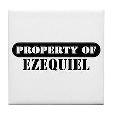 Property of Ezequiel Tile Coaster