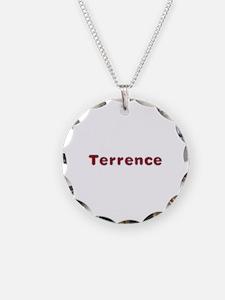 Terrence Santa Fur Necklace Circle Charm