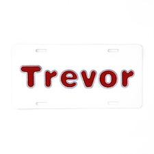 Trevor Santa Fur Aluminum License Plate