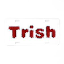 Trish Santa Fur Aluminum License Plate