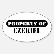 Property of Ezekiel Oval Decal