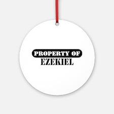 Property of Ezekiel Ornament (Round)