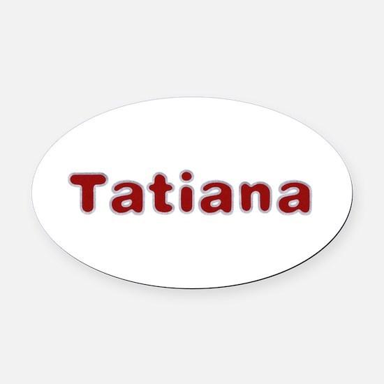 Tatiana Santa Fur Oval Car Magnet