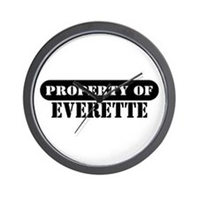 Property of Everette Wall Clock