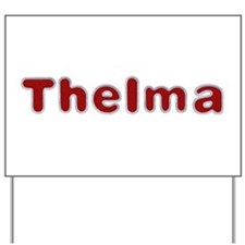 Thelma Santa Fur Yard Sign