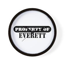 Property of Everett Wall Clock