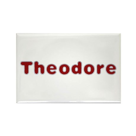 Theodore Santa Fur Rectangle Magnet 100 Pack