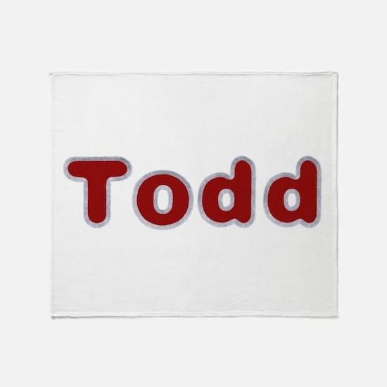 Todd Santa Fur Throw Blanket