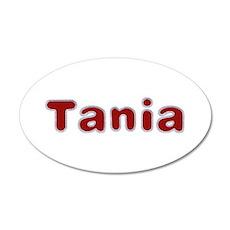 Tania Santa Fur 35x21 Oval Wall Decal
