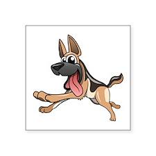 Cartoon German Shepherd Sticker
