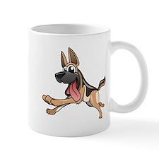 Cartoon German Shepherd Mugs