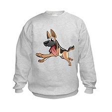 Cartoon German Shepherd Sweatshirt