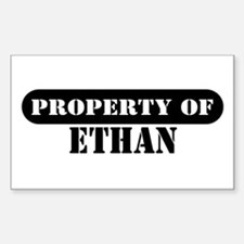 Property of Ethan Rectangle Decal