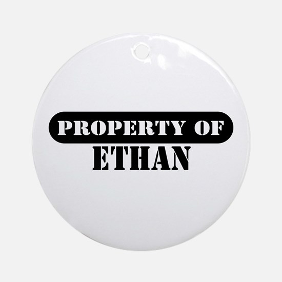 Property of Ethan Ornament (Round)