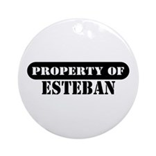 Property of Esteban Ornament (Round)