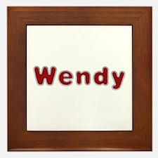 Wendy Santa Fur Framed Tile