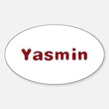Yasmin Santa Fur Oval Decal
