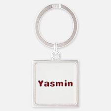 Yasmin Santa Fur Square Keychain