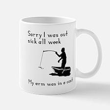 My arm was in a cast Mug