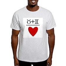 Taurus + Gemini = Love T-Shirt