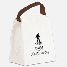 Keep Calm And Squatch On Canvas Lunch Bag