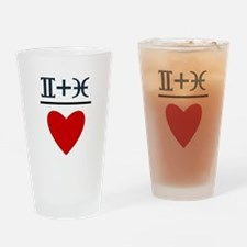 Gemini + Pisces = Love Drinking Glass