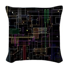 Assimilated Trekkie Decor Woven Throw Pillow