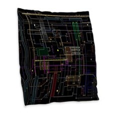 Assimilated Trekkie Decor Burlap Throw Pillow