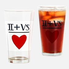 Gemini + Capricorn = Love Drinking Glass