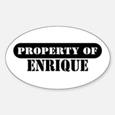 Property of Enrique Oval Bumper Stickers