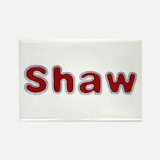 Shaw Santa Fur Rectangle Magnet