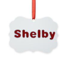 Shelby Santa Fur Ornament