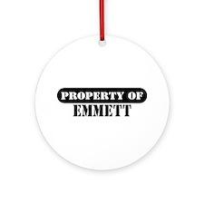 Property of Emmett Ornament (Round)