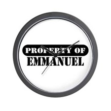 Property of Emmanuel Wall Clock