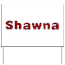 Shawna Santa Fur Yard Sign