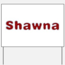 Shawna Santa Fur Yard Sign
