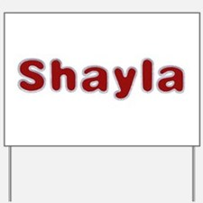 Shayla Santa Fur Yard Sign