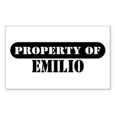 Property of Emilio Rectangle Decal