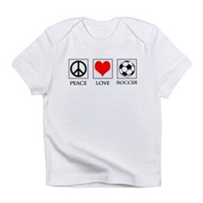 Peace Love Soccer Infant T-Shirt