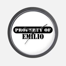 Property of Emilio Wall Clock