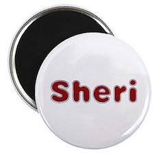 Sheri Santa Fur Round Magnet 100 Pack