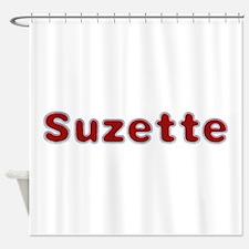 Suzette Santa Fur Shower Curtain