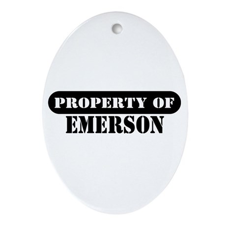 Property of Emerson Oval Ornament