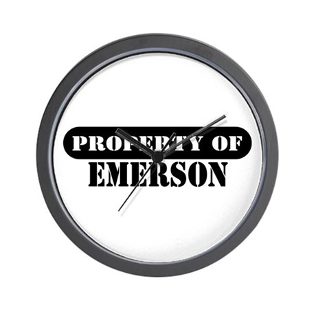 Property of Emerson Wall Clock