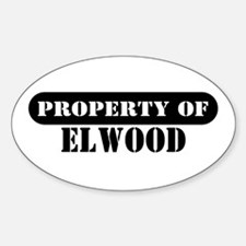 Property of Elwood Oval Decal