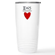 Gemini + Taurus = Love Travel Mug